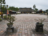 Old Building in Hue Citadel  the Imperial City  Hue  UNESCO World Heritage Site  Vietnam  Indochina