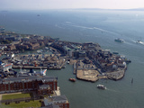View of Old Portsmouth from Spinnaker Tower  Portsmouth  Hampshire  England  United Kingdom  Europe
