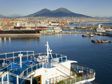 Ships in Naples Port  Campania  Italy  Europe