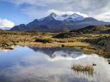 View of the Black Cuillin Mountain Sgurr Nan Gillean  Glen Sligachan  Isle of Skye  Scotland  UK