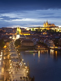 St Vitus Cathedral  Charles Bridge  River Vltava  UNESCO World Heritage Site  Prague Czech Republic