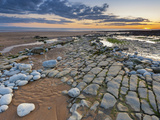 Sunset over Rocks of Dunraven Bay  Southerndown  Wales