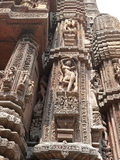 Carving of Woman on Vimana of 11th Century Rajarani Temple  Bhubaneshwar  India