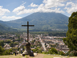 View of Antigua from Cross on the Hill Park  UNESCO World Heritage Site  Guatemala  Central America