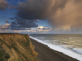 A Rain Cloud Approaches the Cliffs at Weybourne  Norfolk  England