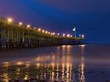 Ventura Pier at Night  Ventura  California  United States of America  North America