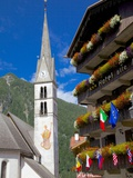 Church and Hotel  Alleghe  Belluno Province  Italian Dolomites  Italy  Europe