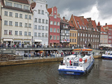 View Along River Motlawa Showing Harbour and Old Hanseatic Architecture  Gdansk  Pomerania  Poland