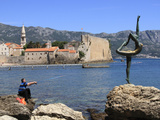 Fisherman and Dancer Statue  Budva Old Town  Montenegro  Europe