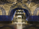 Artwork in Kungstradgarden Subway Station  Stockholm  Sweden  Scandinavia  Europe