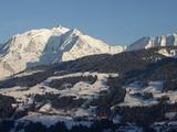 Megeve Ski Slopes  Mont-Blanc Mountain Range  Megeve  Haute-Savoie  French Alps  France  Europe