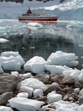Cruise Ship Moored at Neko Harbor  Antarctica  Polar Regions