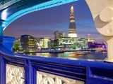 The Shard from Tower Bridge at Dusk  London  England  United Kingdom  Europe