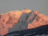 Mont Blanc Mountain Range  Megeve  Haute-Savoie  French Alps  France  Europe