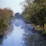 Kennet and Avon Canal in Mist  Great Bedwyn  Wiltshire  England  United Kingdom  Europe