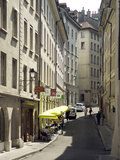 Street Scenes from Geneva Old Town  Geneva  Switzerland  Europe