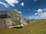 Hiking on High Route 2 in Dolomites  Bolzano Province  Trentino-Alto Adige/South Tyrol  Italy