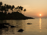 Sunset over Colomb Beach  Palolem  Goa  India  Asia
