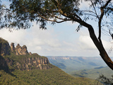 Panoramic Photo of the Three Sisters  Blue Mountains  Katoomba  New South Wales  Australia  Pacific