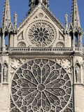 Southern Facade of Notre-Dame de Paris Cathedral  Paris  France  Europe