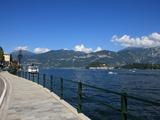 Sidewalk Along Como Lake  Lombardy  Italian Lakes  Italy  Europe