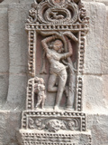 Erotic Carving of Woman on 11th Century Rajarani Temple  known as Love Temple  Bhubaneshwar  India