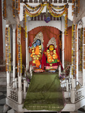 Hindu Deities Lord Krishna and His Consort Radha in Shrine  Lalji Mandir  Kalna  West Bengal  India