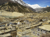 Manang Village  Marsyangdi River Valley  Annapurna Conservation Area  Gandaki  Nepal