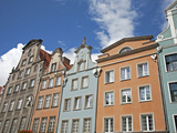 Colourful Building Facades on Long Market (Dlugi Targ)  Gdansk  Pomerania  Poland  Europe