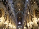 Nave  Notre-Dame de Paris Cathedral  Paris  France  Europe