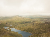 View of Llyn Llydaw from the Peak of Snowdon  Snowdonia National Park  Gwynedd  Wales  UK  Europe