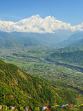 Annapurna Himal and Machapuchare Seen from Sarangkot  Gandaki Zone  Western Region  Nepal