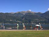 Windsurfing School  Colico  Lake Como  Lombardy  Italian Lakes  Italy  Europe