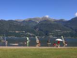 Windsurfing School  Colico  Lake Como  Lombardy  Italian Lakes  Italy  Europe