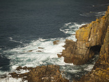 Sea Arch and Stacked Rocks at Land's End  Cornwall  England  United Kingdom  Europe