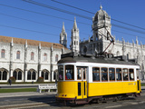 Mosteiro Dos Jeronimos  UNESCO World Heritage Site  and Tram (Electricos)  Belem  Lisbon  Portugal
