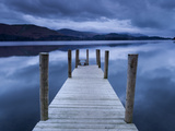 Dawn at Ashness Landing Jetty on Derwentwater  Keswick  Lake District Nat'l Park  Cumbria  England