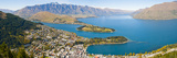 Aerial View of Queenstown  Lake Wakatipu and Remarkable Mountains  Otago Region  New Zealand