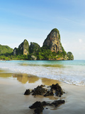 Rai Leh West Beach  Rai Leh (Railay)  Andaman Coast  Krabi Province  Thailand  Southeast Asia  Asia