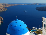 View from Imerovigli Overlooking Ocean  Santorini  Cyclades  Greek Islands  Greece  Europe