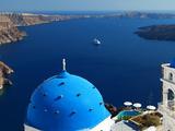 View from Imerovigli Overlooking Ocean  Santorini  Cyclades  Greek Islands  Greece  Europe