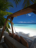 Swing on Tropical Beach  Maldives  Indian Ocean  Asia