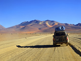 A 4x4 on the Southwest Circuit Tour  Rio Blanco  Bolivia  South America