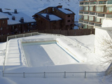 Swimming Pool in Val Claret  Highest Village in Tignes  Savoie  Rhone-Alpes  French Alps  France