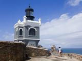 El Morro Lighthouse on Castillo San Felipe del Morro  Old City of San Juan  Puerto Rico Island  USA