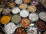 Various Types of Sonf  Mouth Freshener  Sonf Stall in Market  Kolkata  West Bengal  India