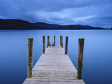 Dawn at Ashness Jetty  Barrow Bay  Derwent Water  Lake District Nat'l Park  Cumbria  England