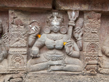 Carving on Wall of Parasurameswar Hindu Temple Dedicated to Lord Shiva  Bhubaneshwar  India