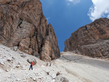 Hiking on High Route 2 in Dolomites  Bolzano Province  Trentino-Alto Adige/South Tyrol  Italy