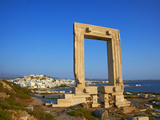 Gateway  Temple of Apollo  Archaeological Site  Naxos  Cyclades  Greek Islands  Greece  Europe